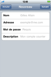 Apple iPhone 4 - E-mail - Configuration manuelle - Étape 7