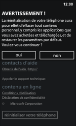 Nokia Lumia 800 - Aller plus loin - Restaurer les paramètres d'usines - Étape 6