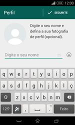 Sony Xperia E1 - Aplicações - Como configurar o WhatsApp -  9