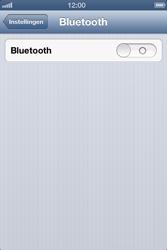 Apple iPhone 4 (iOS 6) - bluetooth - aanzetten - stap 4