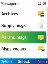 Nokia X2-00 - SMS - Configuration manuelle - Étape 5
