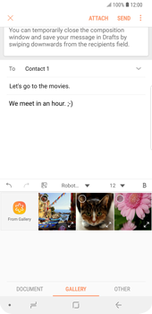 Samsung Galaxy S9 Plus - Email - Sending an email message - Step 13