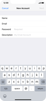 Apple iPhone X - Email - Manual configuration - Step 8