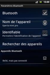 Sony Ericsson Xperia Mini Pro - Bluetooth - connexion Bluetooth - Étape 11