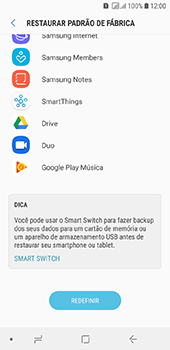 Samsung Galaxy J6 - Funções básicas - Como restaurar as configurações originais do seu aparelho - Etapa 7