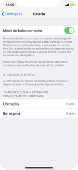 Apple iPhone X - Bateria - Modo de poupança -  6