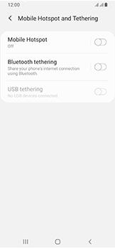 Samsung Galaxy A40 - Internet - Set up mobile hotspot - Step 6