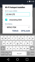 LG K4 - WiFi - Mobiele hotspot instellen - Stap 7