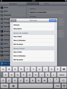 Apple iPad mini - E-mail - Configuration manuelle - Étape 13