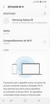 Samsung Galaxy S9 - Wi-Fi - Como usar seu aparelho como um roteador de rede wi-fi - Etapa 8