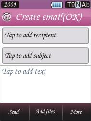 Samsung S7070 Diva - E-mail - Sending emails - Step 6