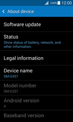 Samsung G357 Galaxy Ace 4 - Device - Software update - Step 6