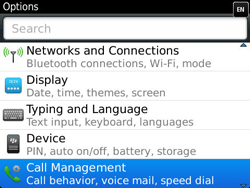 BlackBerry 9360 Curve - Voicemail - Manual configuration - Step 4