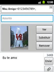 Samsung Galaxy Y - Mensagens - Como criar e enviar mensagens multimídia (MMS) - Etapa 14