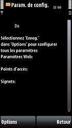 Nokia 5800 Xpress Music - Paramètres - Reçus par SMS - Étape 6