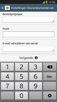 Samsung N9005 Galaxy Note III LTE - E-mail - Account instellen (POP3 met SMTP-verificatie) - Stap 10