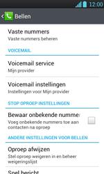 LG P700 Optimus L7 - Voicemail - Handmatig instellen - Stap 5