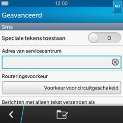 BlackBerry Q10 - SMS - Handmatig instellen - Stap 8