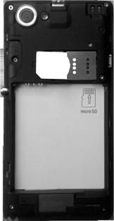Sony Xperia L - Primeros pasos - Quitar y colocar la batería - Paso 4