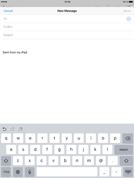 Apple iPad Pro (9.7) - Email - Sending an email message - Step 4