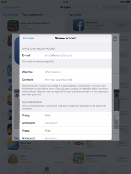 Apple iPad 2 met iOS 8 - Applicaties - Account aanmaken - Stap 12