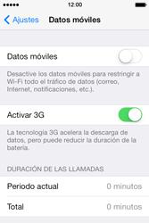 Apple iPhone 4S iOS 7 - Internet - Activar o desactivar la conexión de datos - Paso 5