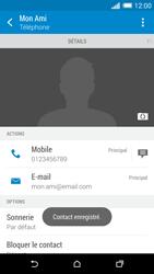 HTC Desire 820 - Contact, Appels, SMS/MMS - Ajouter un contact - Étape 19