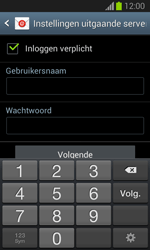 Samsung S7390 Galaxy Trend Lite - E-mail - e-mail instellen: IMAP (aanbevolen) - Stap 13
