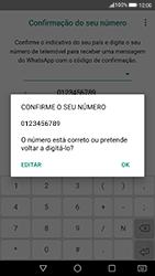 Huawei P8 Lite (2017) - Aplicações - Como configurar o WhatsApp -  10