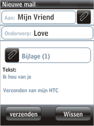 HTC F3188 Smart - E-mail - hoe te versturen - Stap 12