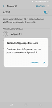 Samsung Galaxy S8 Plus - Bluetooth - connexion Bluetooth - Étape 10