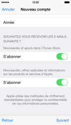 Apple iPhone 5s - iOS 8 - Applications - Créer un compte - Étape 18