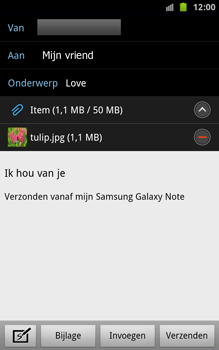 Samsung N7000 Galaxy Note - E-mail - hoe te versturen - Stap 12