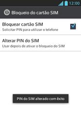 LG Optimus L5 - Segurança - Como trocar o código PIN do seu celular - Etapa 13