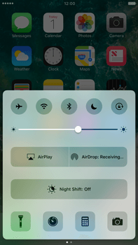 Apple Apple iPhone 6 Plus iOS 10 - iOS features - Control Centre - Step 7
