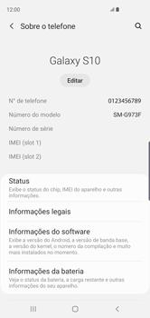 Samsung Galaxy S10 - Primeiros passos - Como encontrar o número de IMEI do seu aparelho - Etapa 5
