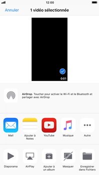 Apple iPhone 6 Plus - iOS 11 - Photos, vidéos, musique - Créer une vidéo - Étape 11