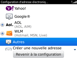 BlackBerry 9780 Bold - E-mail - Configuration manuelle - Étape 5