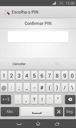 Sony Xperia E1 - Segurança - Como ativar o código de bloqueio do ecrã -  9
