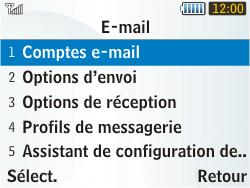 Samsung S3350 Chat 335 - E-mail - Configuration manuelle - Étape 8