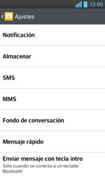 LG Optimus L5 II - Mensajería - Configurar el equipo para mensajes de texto - Paso 6
