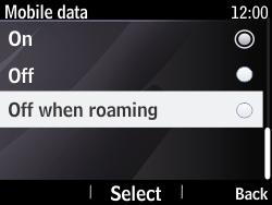 Nokia Asha 210 - Internet - Usage across the border - Step 7