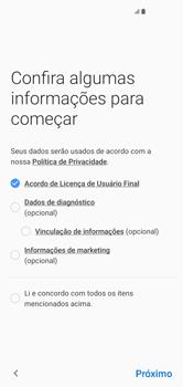 Samsung Galaxy S10 - Primeiros passos - Como ativar seu aparelho - Etapa 7