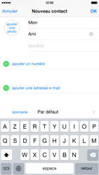 Apple iPhone 6 iOS 8 - Contact, Appels, SMS/MMS - Ajouter un contact - Étape 7