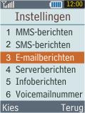 Samsung B2100 Xplorer - E-mail - Handmatig instellen - Stap 5
