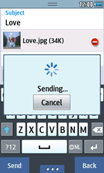 Samsung S5250 Wave 525 - MMS - Sending pictures - Step 15