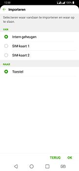LG g7-fit-dual-sim-lm-q850emw - Contacten en data - Contacten kopiëren van SIM naar toestel - Stap 8
