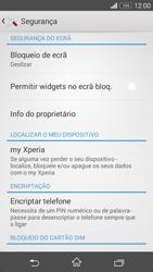 Sony Xperia M2 - Segurança - Como ativar o código de bloqueio do ecrã -  5