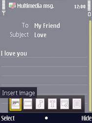 Nokia N86 - MMS - Sending pictures - Step 10