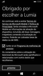 Microsoft Lumia 535 - Primeiros passos - Como ligar o telemóvel pela primeira vez -  16
